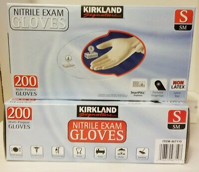 KIRKLAND SIGNATURE NITRILE EXAM GLOVES 400 ct Small