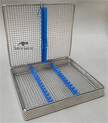 Perforated Mesh Sterilisation Cassette Rack Tray 15 Dental Instruments Autoclave