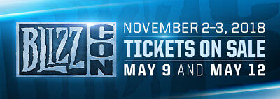 General Admission Blizzcon 2018 Tickets (Event + Goodie Bag + Digital Bonus's)