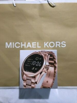 fc095293d84e NEW SEALED BOX ! Michael Kors Access Rose Gold pave Bradshaw Smartwatch  MKT5018