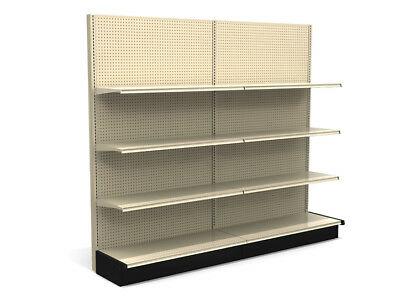LOZIER Gondola Store Shelving 4' Island & Wall Sections WITH SHELVES (PICKUP KY)