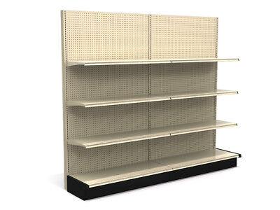 LOZIER Gondola Store Shelving Lot 4' Island & Wall Sections WITH SHELVES Retail