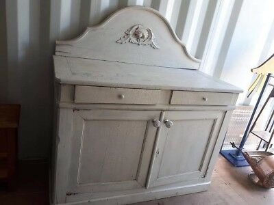 Antique Hand painted/distressed French style sideboard cupboard /cabinet.