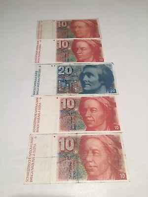 Switzerland vintage Swiss francs lot of 60.00 CHF nice lot!