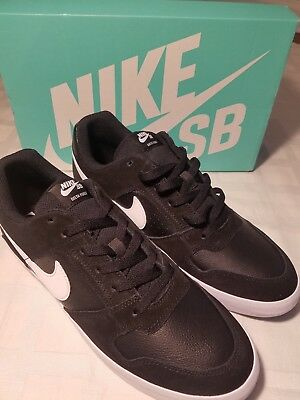 69be478fc7614b Mens Sneakers Nike SB Delta Force Vulc Shoes Size 10.5 Black White New in  Box