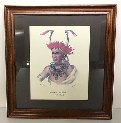 LARGE Lehman & Duval Litho by C.B. King Painted Otto Half Chief, Chon-Man-I-Case