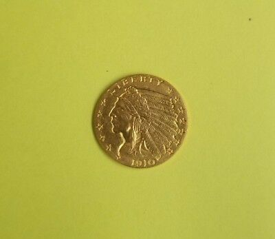 1910 $2 1/2 Indian Head Gold Coin