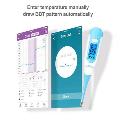 Easy@Home Digital Oral Basal Thermometer - Large Blue Backlit Display  – EBT-100