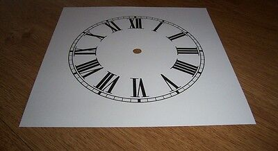 "Ogee Paper Clock Dial- 7 1/2"" M/T - Roman -  White Matt - Face/ Clock Parts"