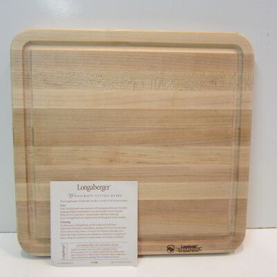 Longaberger Baskets Large Woodcrafts Maple Cutting Board #51038