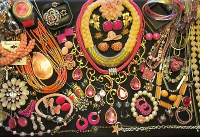 Mixed Vintage to Now Costume Jewelry all wear or resale Lot  69 pc    ML - 1