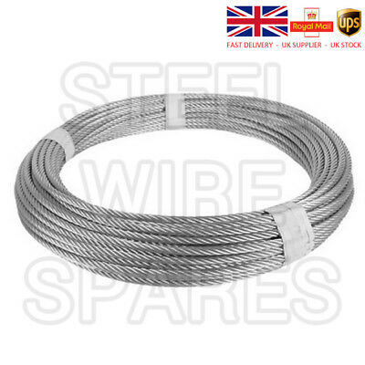 Stainless Steel Wire Rope cable 1mm 2mm 3mm 4mm 5mm 6mm FREE DELIVERY