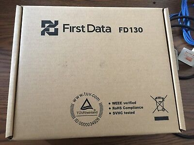 First Data FD130 EMV NFC (Dial/IP) Credit Card Machine, New,Boxed, never open