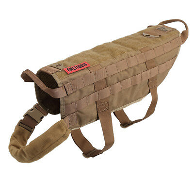 OneTigris Tactical Training K9 Dog Harness Molle Nylon Vest for M L XL Size Dogs