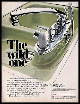 1968 American Standard Bathroom Kitchen Fixtures Vintage PRINT AD Sink 1960s