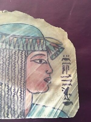rare ancient egyptian queen cleopatra Alabaster -( 36 Be - 27 Bc)