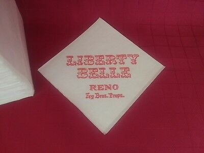6 Vtg ***liberty Belle Saloon*** Reno,nv ****cocktail Napkins**** **fey Bros.**