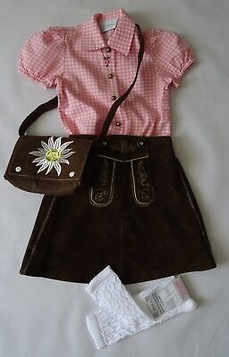 Girls Bavarian Leather Skirt á la Lederhosen Outfit 5-6 years