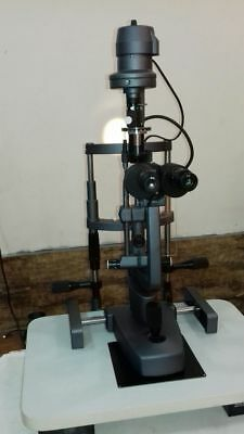Slit Lamp Microscope 2 Step with Wooden Base SHIPS FROM USA