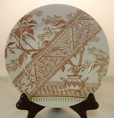 Aesthetic Movement James Gildea Brown Transfer Chesterfield Pattern Plate 1886