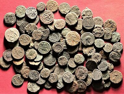 Lot of 100 Ancient Roman Bronze Coins, AE3, AE4, Follis, #1
