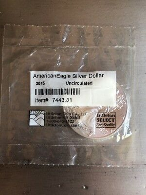2015 Uncirculated American Eagle Liberty Fine 1oz Silver Coin Auctions Deal Sale