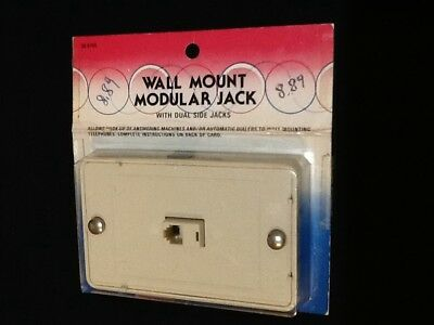 Nos Wall Mount Modular Jack With Dual Side Jacks Free Shipping