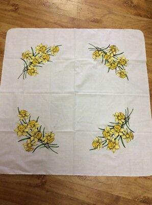 Vintage Retro Floral Daffodils Pretty Supercloth Tablecloth
