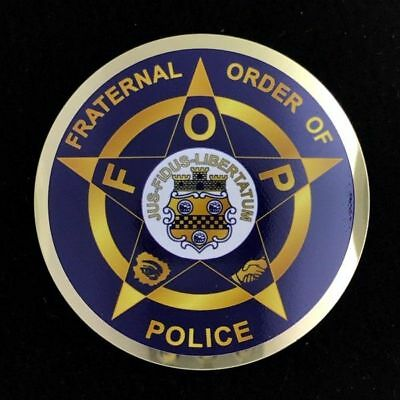 Fraternal Order of Police Auto Emblem (Blue) - (FOP-AE-2)