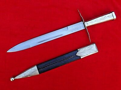 NICE ANTIQUE GAUCHO FACON DAGGER Knife Sword Military style ARGENTINA  or BRAZIL