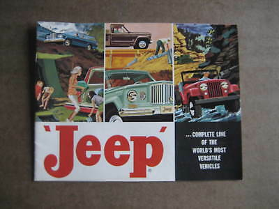 Vintage 1960's Willys/Jeep Trucks Line Sales Brochure