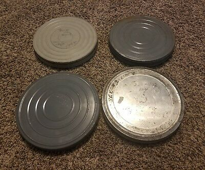 LOT OF 4 1940's HOME MOVIES ~1 FULL REEL & 3 PARTIAL TIN REELS