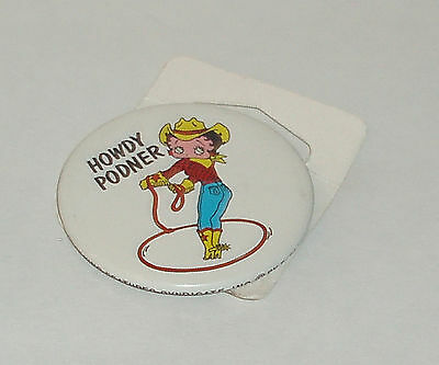 "BETTY BOOP Cowgirl boots & Lassoo Rope  ""Howdy Podner""  PIN by Fleischer Studios"