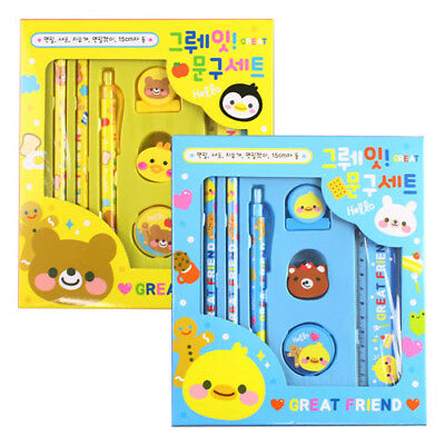 Great kids pencil SET, Include Cute characters Mechanical Eraser
