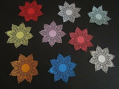 "DIE CUTS HEART  5 DOILEYS STAR   LARGE   CARDSTOCK 4""x 4"" approx"