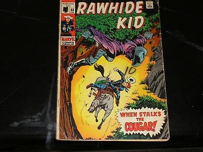 Rawhide Kid #68 1969 When Stalks The Cougar 2.5 Good+ Condition
