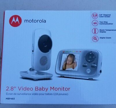 "Motorola MBP483 2.8"" Video Baby Monitor in White BRAND NEW"