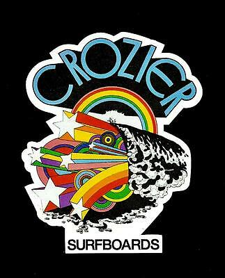 CROZIER SURFBOARDS Australia STICKER DECAL 1970's Surfboard Manufacturer Surfing