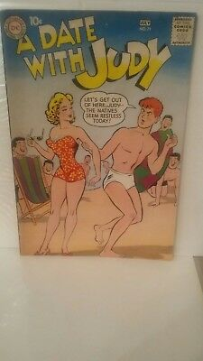 Vintage DC Comic Book- A Date With Judy #71 1959 VERY GOOD