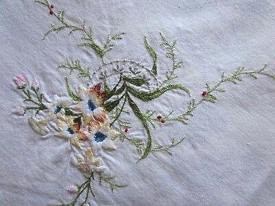 A White Embroidered Supper Cloth  77 X 80 Cm In Perfect Condition.
