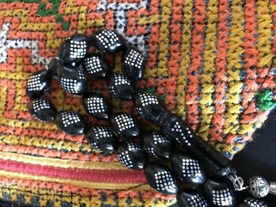 Old Turkish Inlaid Worry / Prayer Beads …beautiful collection / accent item