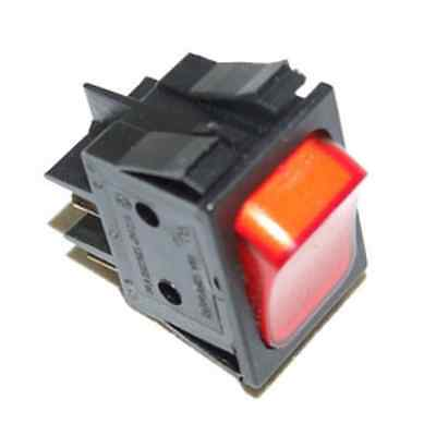 Commercial Fridge On/Off Red Illuminated Dpst Rocker Switch Md401L