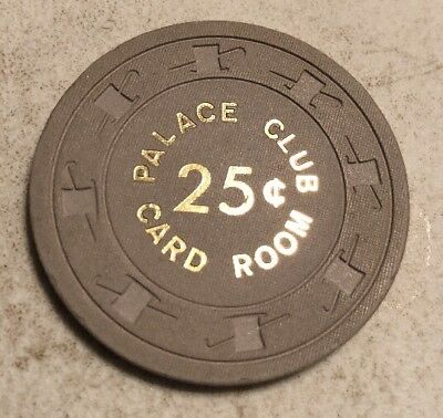 Palace Club Card Room $.25 Casino Chip Reno Nevada 2.99 Shipping
