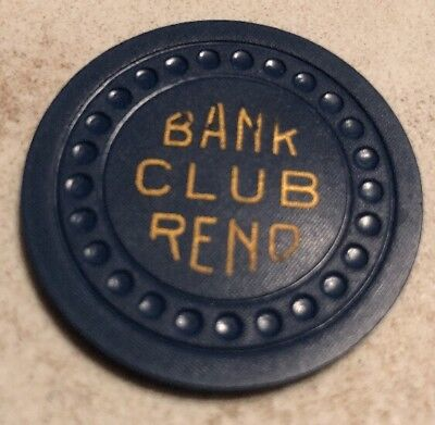 Bank Club $25 Casino Chip Reno Nevada 2.99 Shipping