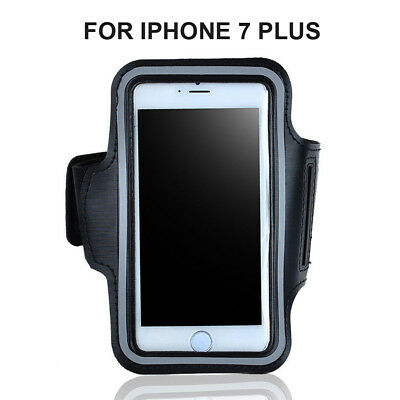 Black Sport Armband Case Fr iPhone 7 Plus Gym Runing Arm band Pouch Phone Holder