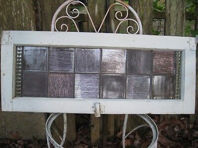 Stained Glass Transom Window Antique Vintage Salvage Reclaimed Prism Tiles