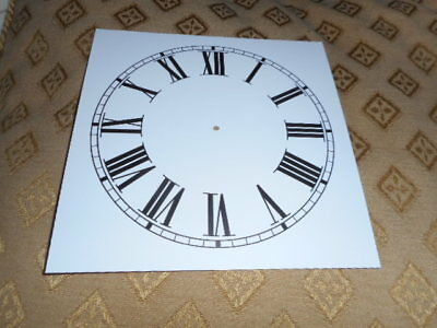 "Square Paper Clock Dial - 5 1/2"" M/T - Roman - High Gloss White-Clock Parts"
