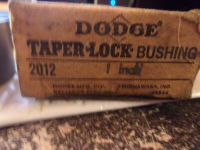 Nos Dodge Taper Lock Bushing 2012 X 1 Inch Made In The Usa  Free Shipping!