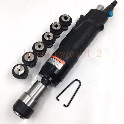 Pneumatic tapping machine 200rpm Self-locking Gun Air Drill + 6pc Chuck (M3-M12)