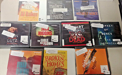Mystery/Thriller Audio Books Lot of 10 on CD FREE SHIPPING Unabridged A-38